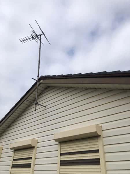 Incorrect tv antenna installation