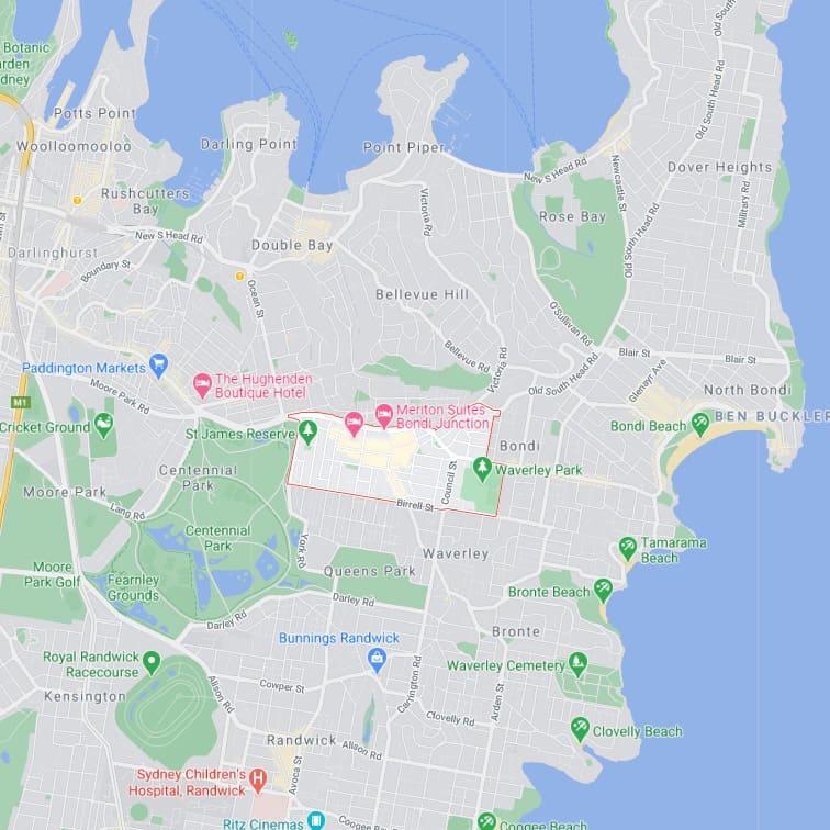 Bondi Junction map