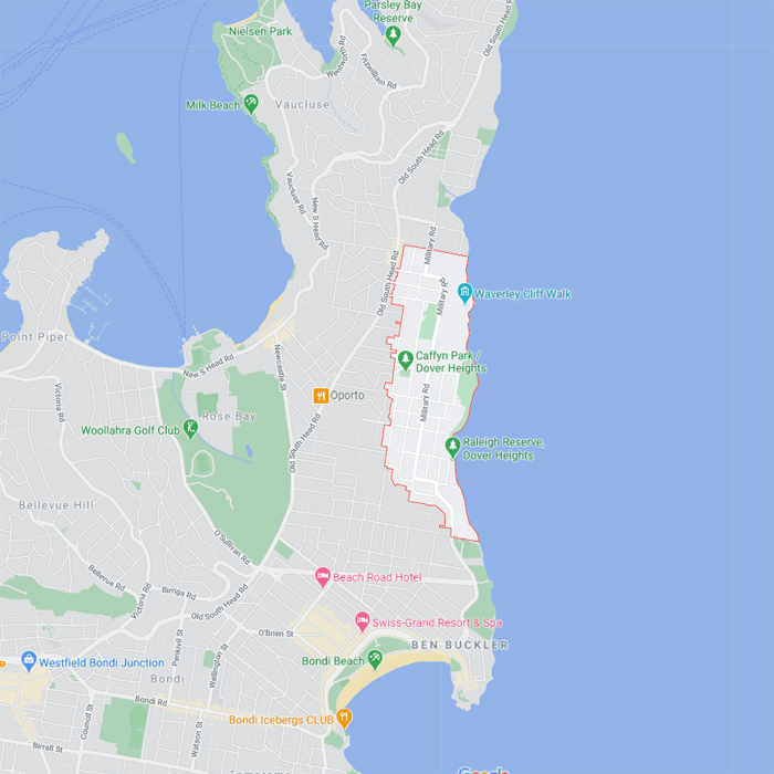 dover heights map